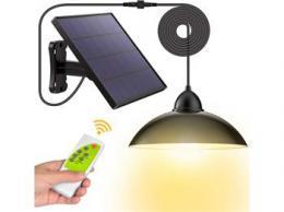 iQtech Solar 12 solární závesná lampa, dálkové ovládání, 8 W