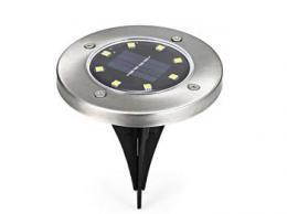 iQtech LEDSolar 8Z, solární venkovní svìtlo do zemì, 8 LED, 1W sudená barva