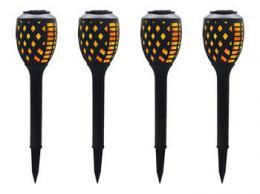 iQtech LEDSolar 48, solární venkovní hoøící louè, 12 LED, 1W, 4kusy v balení