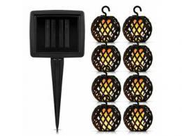 iQtech LEDSolar S8 Firefly, solární venkovní hoøící øetìz, 1W, teplá barva