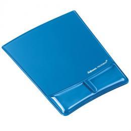 Podložka pod myš a zápìstí Fellowes Health-V CRYSTAL gelová Microban modrá