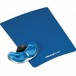Podložka pod myš a zápìstí Fellowes Palm Health-V CRYSTAL gelová Microban modrá