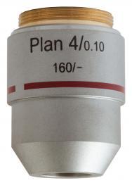 Rovinný achromatický objektiv Levenhuk MED 4x