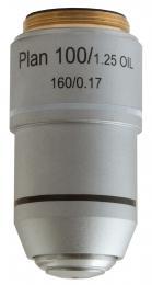 Rovinný achromatický objektiv Levenhuk MED 100x