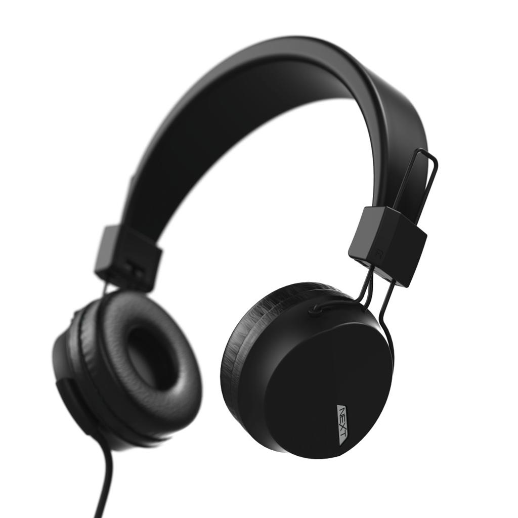 Hama on-ear sluchátka s mikrofonem Next, èerná