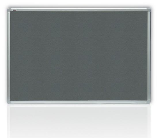 Filcová šedá tabule v hliníkovém rámu  120x90 cm